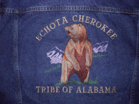 Echota Cherokee Bear Denim Jacket