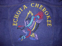 Echota Cherokee Eagle Denim Jacket